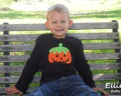 Boys Custom Halloween Long Sleeve Tee. Size 12 months - 5T