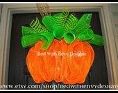 Large Halloween Wreath, Halloween Wreath, Deco Mesh Wreath, Wreath,Pumpkin, Pumpkin Wreath