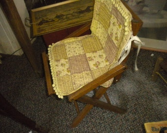 CLEARANCE SALE....Child's Primitive Wooden Folding Chair, Country,Primitive,Eclectic,French Country