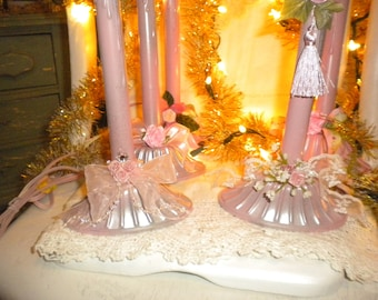 Up Cycled Shabby Chic Window Candles,French,Baby Girl'sRoom, Nursery,Eclectic,Cottage,Cottage chic