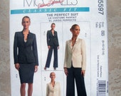 McCall's Pattern M5597 Size BB 8 10 12 14 Career Bussiness Miss Lined Jacket Skirt Pants Uncut