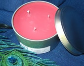 Macintosh Apple Scented Soy Candle 16oz Travel Tin Red Classic Fruit Fragrance Triple Wicked