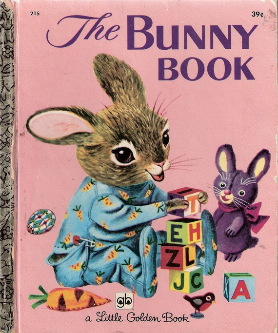 The Bunny Book by Patsy and Richard Scarry 1955 A Little Golden Book