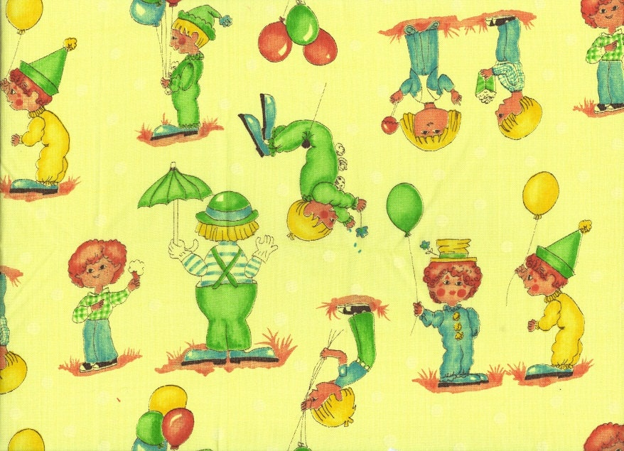 Retro 60s fabric vintage material children 39 s pattern for Retro kids fabric