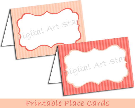 Unavailable listing on etsy for Tent place card template