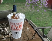 Galvanized Backyard Halloween Wine Vase