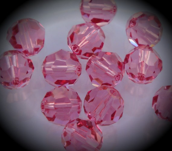 5000 8mm Genuine Swarovski Crystals Rose Round Beads