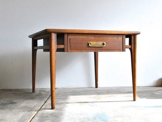 Mid Century Wooden Side Table by Lane - Walnut