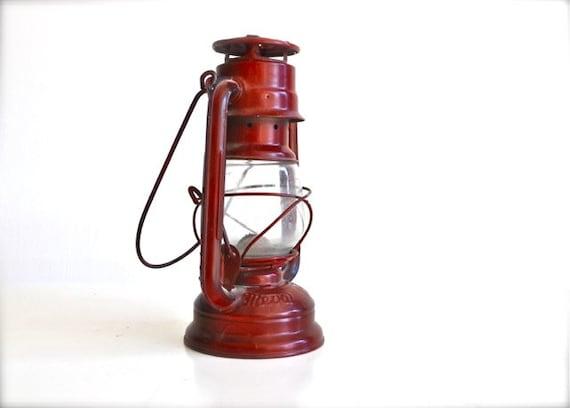 Cyber Monday Etsy Red Lantern Vintage European - Rustic Home Decor