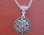 Pewter Button Necklace from Norway Celtic Frøy