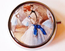 Degas, Ballerina, Pill Box, Pill Case, Pill Container, Pink, Mint Container, Candy Container, French Painting (1788)