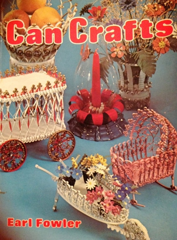 Vintage Can Craft Book Doll House Furniture Can Quilling Tin Crafting Vintage Book Quill Work Miniatures