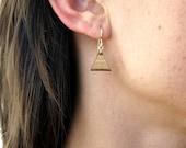 SALE - Tiny Triangle, Laser Cut Earrings