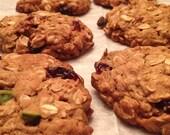 Vegan Pistachio-Craisin Oatmeal Cookies
