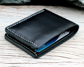 Black and white leather wallet