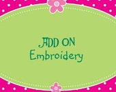 Add On - Embroidery