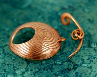Japanese Illusion pattern- spyro gyra - Handmade copper toggle clasp