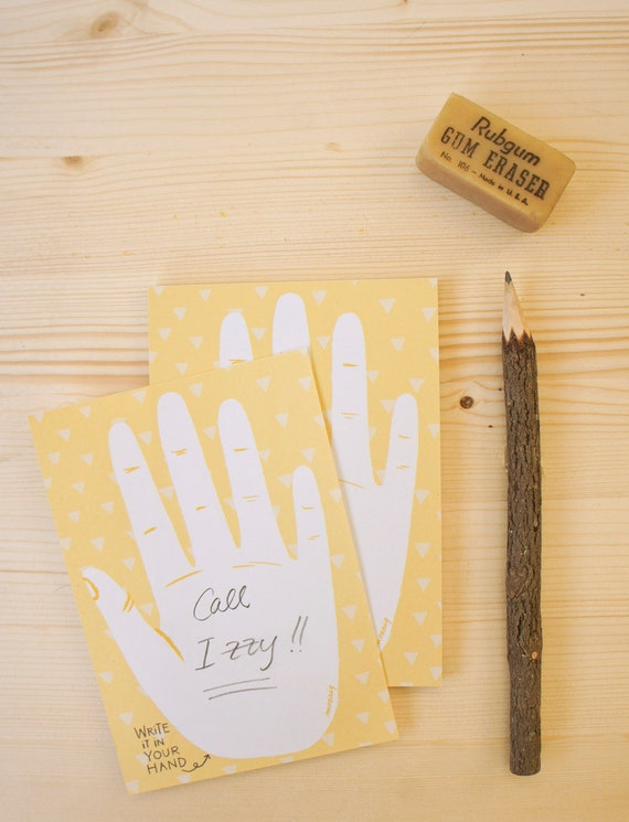 "Eco-friendly notepad ""Hand"""