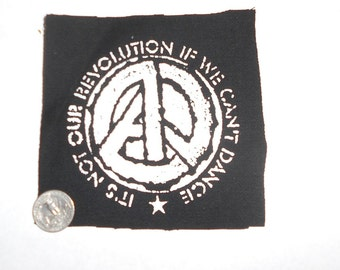A//Political Logo Patch - Anarchy/Peace/Equality