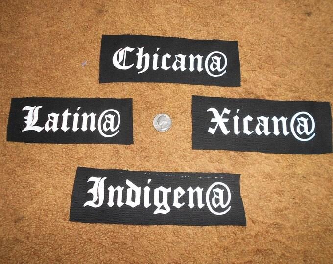 Xicana/o // Latina/o // Chicana/o - Punk Patch