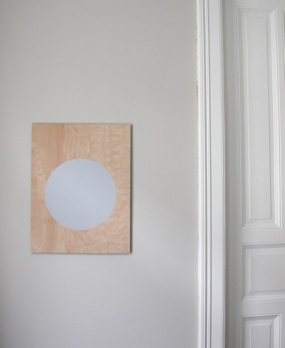 reserved for johanna / circle screenprint on plywood