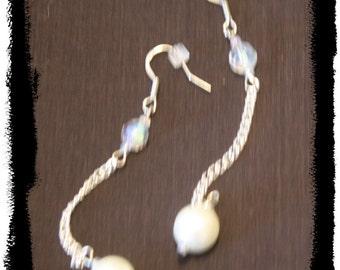 Pearl and Crystal Earrings