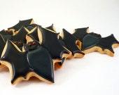 Decorated Cookies - Halloween - Black Bats