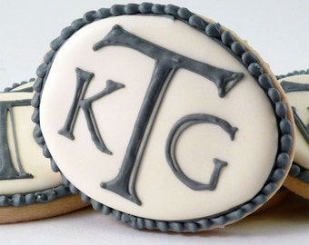 Decorated Cookies - Personalized Ovals - Wedding - Engagement - 1 dozen