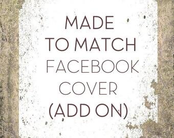 Custom Facebook Cover, Social Media Banner Set Add on