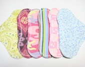7 1/2 inch Flannel Pantyliners - Set of 6 - Customize Your Pantyliners, Fabrics and Backing - Trojacek Farms