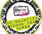 """Buyer's Choice - 50qty 4""""x6"""" Thank You Cards"""