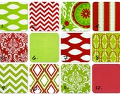 TWO Christmas Pillows, 16 x 16, 28 fabrics to choose from