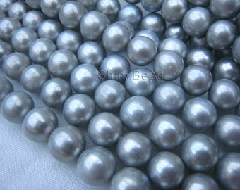 pearl,fresh water pearl,11-10mm near round,15.5  inch