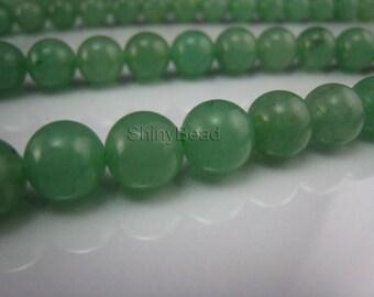 green aventurine round bead 8mm 15 inch strand