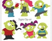 The Walking Cute - Digital Clip Art , Commercial Use Clipart, Scrapbook, Printable - Instant Download