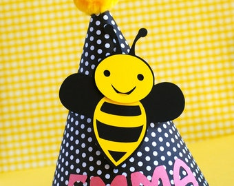 Bumble Bee Party Hat - Personalized