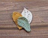 PATTERN Crochet Leaf Earrings