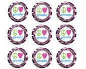 Gymnastics Cupcake Toppers - 2 inch cupcake/cookie custom design
