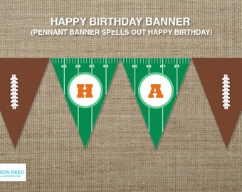 Football Birthday - Printable Party - Football birthday banner - Sports Printable - football play - Birthday Party - DIY Printable