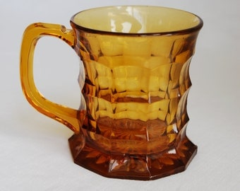 Retro amber glass tankard
