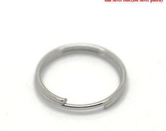 500pcs 12mm Silver Tone Split Ring - Wholesale Jewelry Finding, Bulk Jewelry Making Supplies, Jump Ring, DIY, Ships from USA - JR36-2