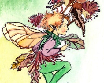 ACEO Limited Edition 1/25-  Burdock Fairy inspired by CM Barker