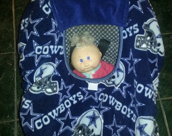Baby Carrier Cozy Cover Up Fleece Dallas Cowboys Print for Infant Car Seat