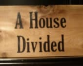 Custom Order Handpainted Sign A House Divided LSU and Mizzou Teams Ranch Wood