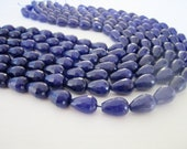 """GB-1127 - Lapis Faceted Drops - 10X14mm - Full Strand - 16"""""""