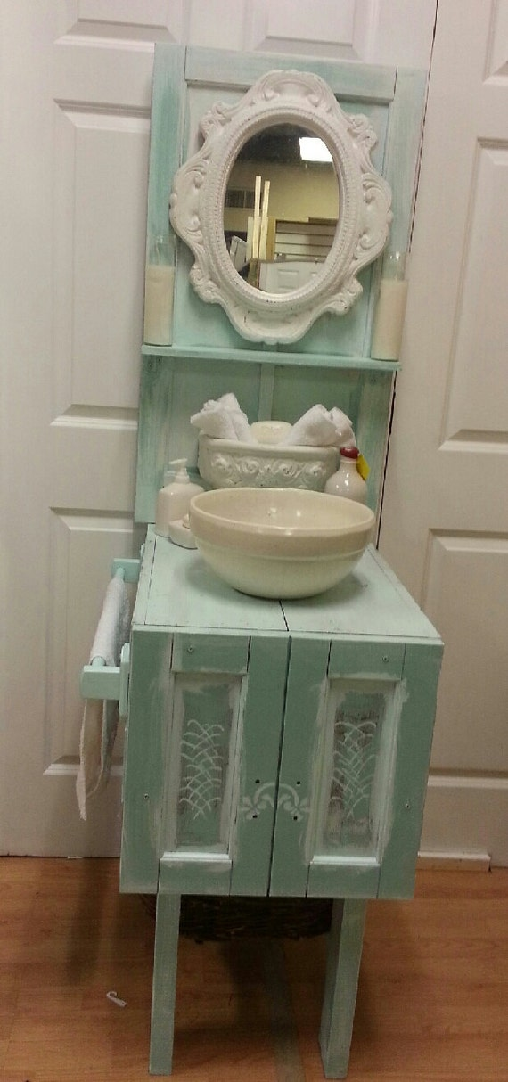 Items Similar To Sale Shabby Chic Cottage Chic One Of A Kind Bathroom Vanity Or Gardening