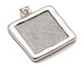 Text Pendant Only - Fibonacci Numbers - Hammered Rhodium Plated - Loupe Optional