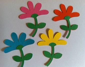 12 paper flower embellishments-handmade paper flowers