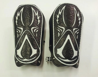 Leather Armor Assassin's Creed Bracers Cuffs