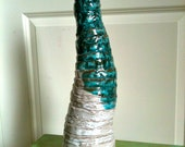 Hive 2 White and Dark Turquoise Sculpture